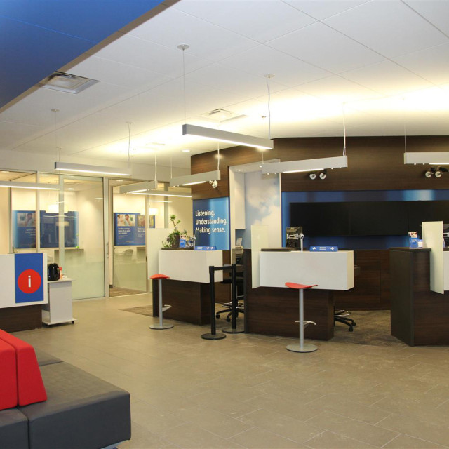 Bank of montreal aodbt architecture interior design for Interior design agency montreal