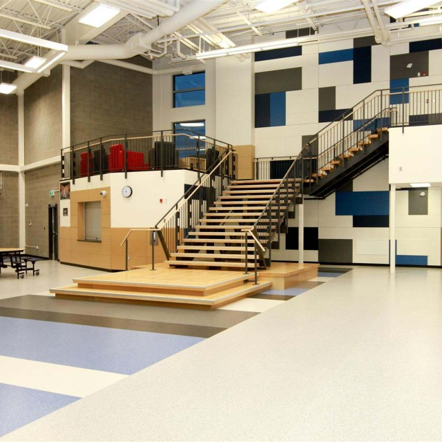 Multi Purpose Meeting Activity Rooms And Three Tournament Size Basketball Courts The School Is Designed To Achieve LEED Silver Certification